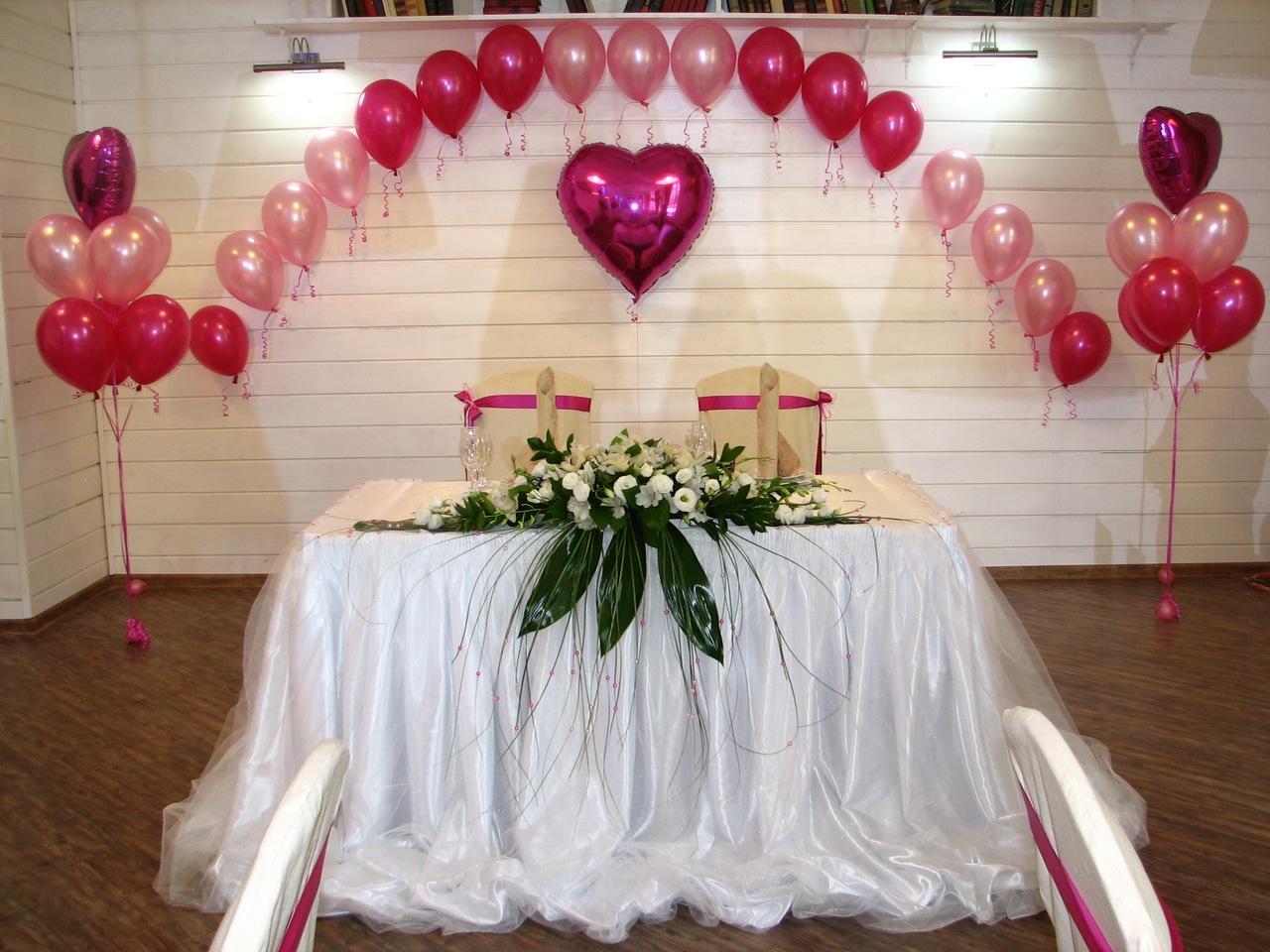 Как украсить зал на свадьбу своими руками, фото, сколько стоит 100